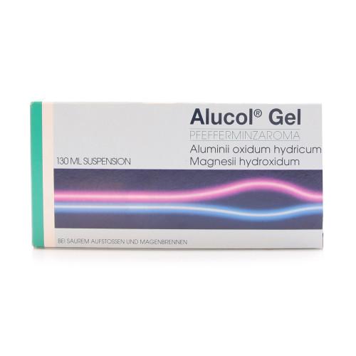 ALUCOL Gel Susp Pfefferminz Fl 130 ml