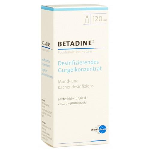 BETADINE desinfizierendes Gurgelkonzentrat 120 ml