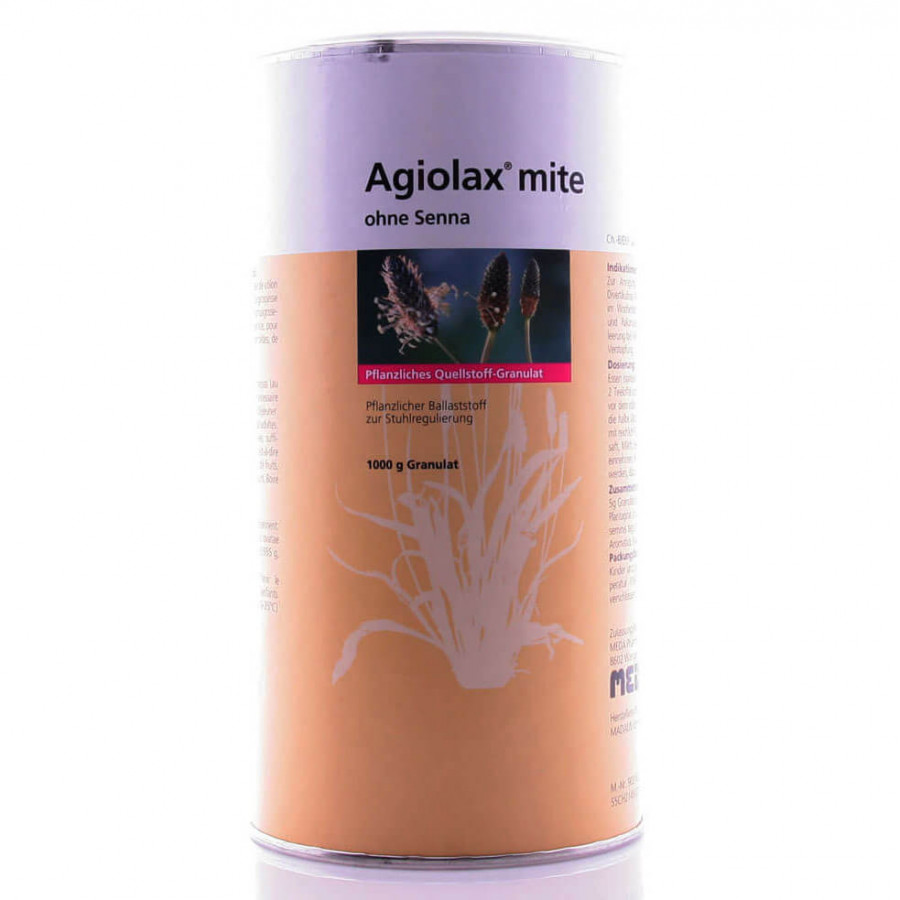 AGIOLAX mite ohne Senna Gran Ds 1000 g