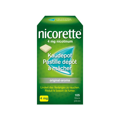 NICORETTE Original Kaudepots 4 mg 105 Stk
