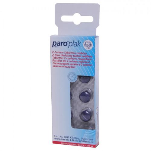 PARO PLAK 2-Farben Tabletten rot/blau 10 Stk 1210