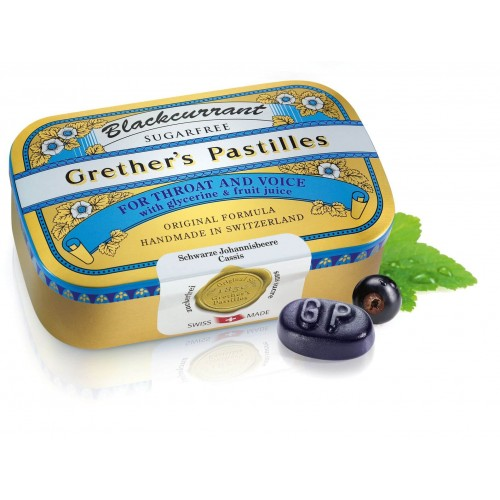 GRETHERS Blackcurrant Past ohne Zucker Dose 110 g