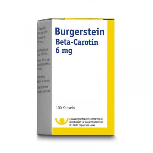 BURGERSTEIN Beta Carotin Kaps 6 mg 100 Stk