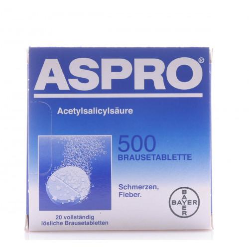 ASPRO Brausetabl 500 mg 20 Stk