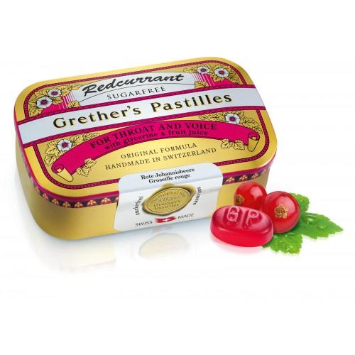GRETHERS Redcurrant Past ohne Zucker Dose 110 g