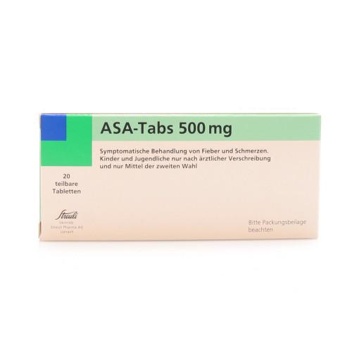 ASA-TABS Tabl 0.5 g 20 Stk