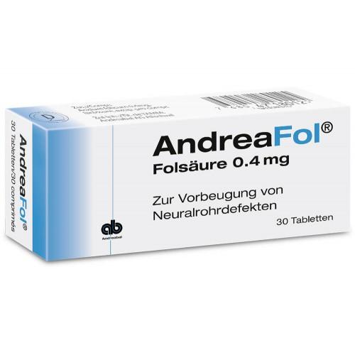 ANDREAFOL Tabl 0.4 mg 30 Stk