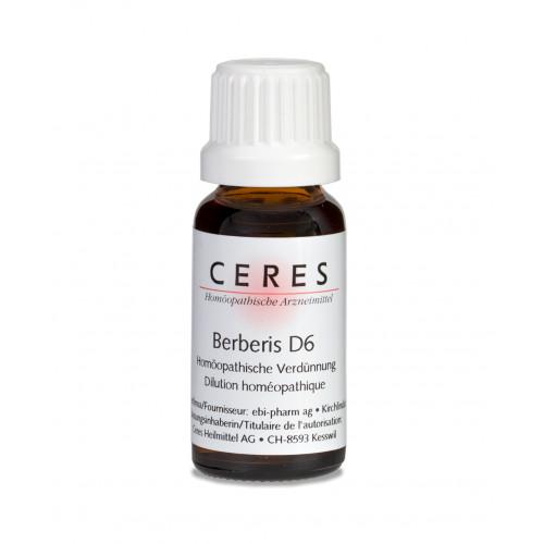 CERES Berberis D 6 Dilution Fl 20 ml