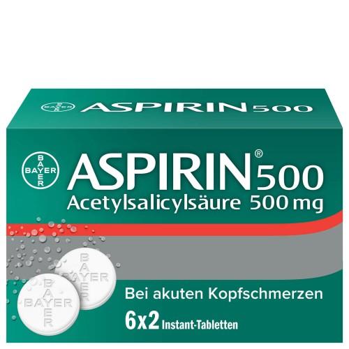ASPIRIN Instant Tabl 500 mg 6 Btl 2 Stk