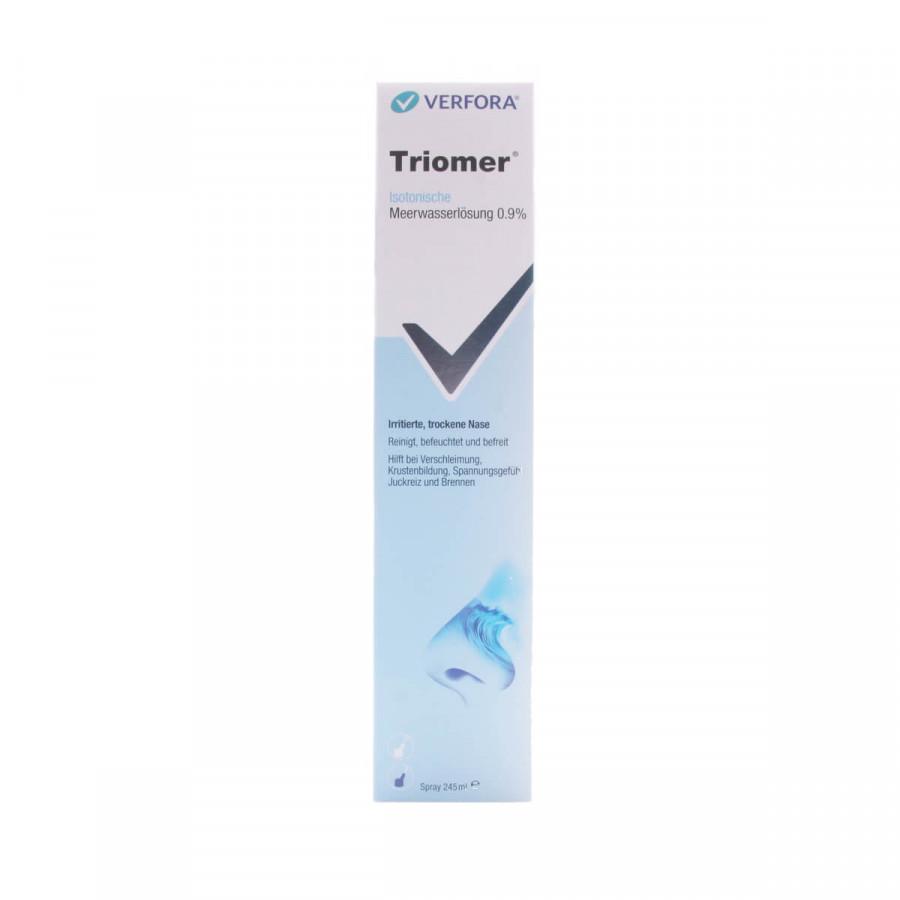 Hier sehen Sie den Artikel TRIOMER Nasenspray 245 ml aus der Kategorie Andere Spezialitäten. Dieser Artikel ist erhältlich bei unseredrogerie.ch