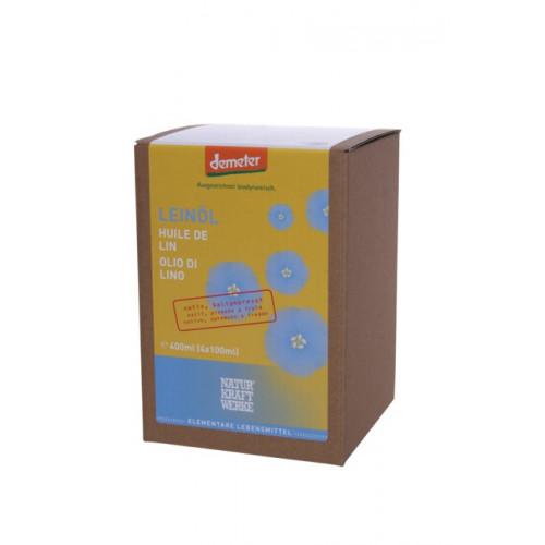 NATURKRAFTWERKE Leinöl nativ Demeter 4 x 100 ml