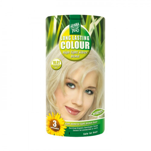 HENNA PLUS Long Last Colour 10.01 silberblond