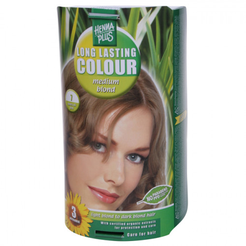 HENNA PLUS Long Last Colour 7 mittelblond