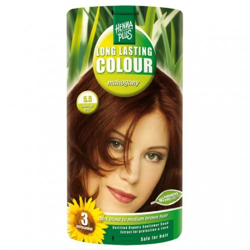 HENNA PLUS Long Last Colour 5.5 mahagoni