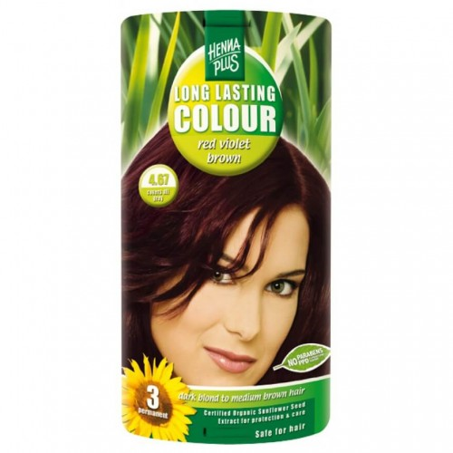 HENNA PLUS Long Last Colour 4.67 henna rot violet braun