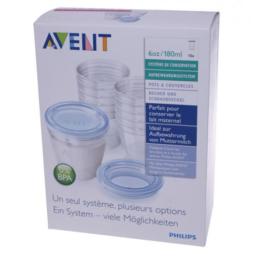 AVENT PHILIPS VIA Muttermilch Becher Set