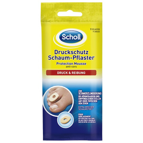 SCHOLL Druckschutz Schaum Pflaster 9 Stk