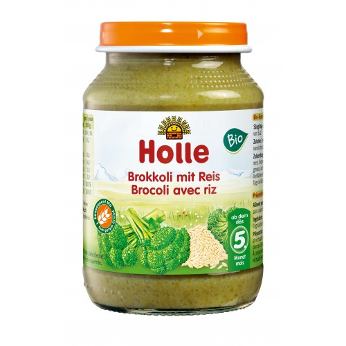 HOLLE Brokkoli mit Reis demeter Bio 190 g