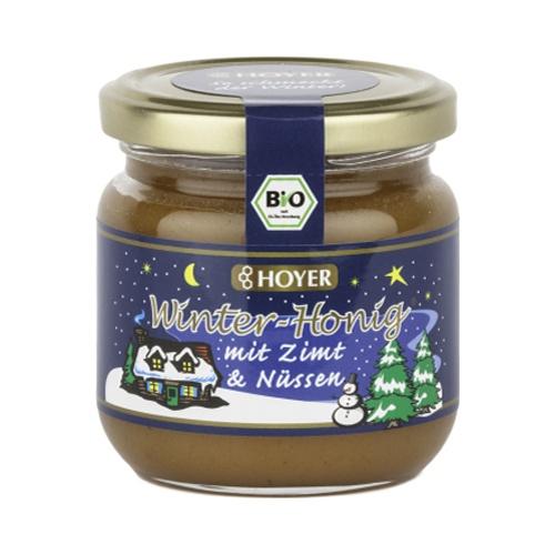 HOYER Winter Honig Zimt & Nüsse Bio Glas 250 g