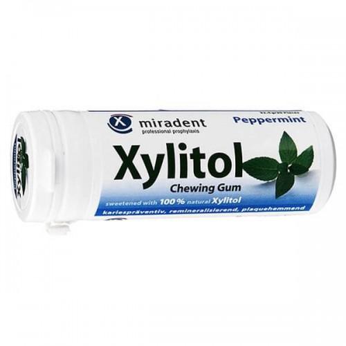 MIRADENT Xylitol Kaugummi Mint 30 Stk