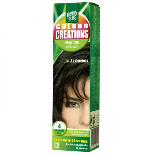 HENNA COLOUR Creations Medium brown 4 60 ml