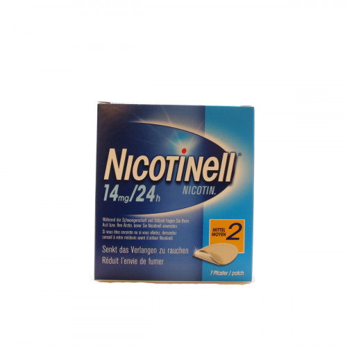 NICOTINELL 2 mittel Matrixpfl 14 mg/24h 7 Stk