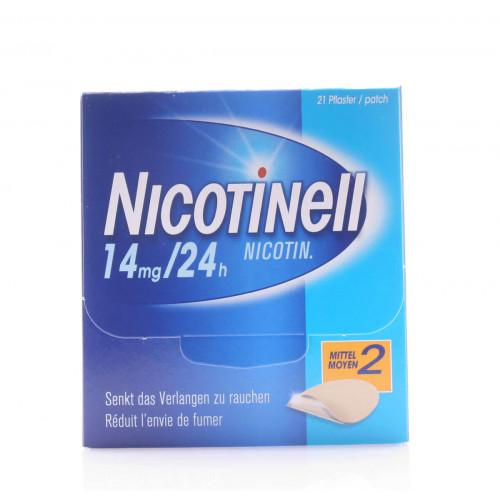 NICOTINELL 2 mittel Matrixpfl 14 mg/24h 21 Stk