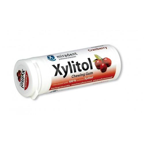 MIRADENT Xylitol Kaugummi Cranberry 30 Stk