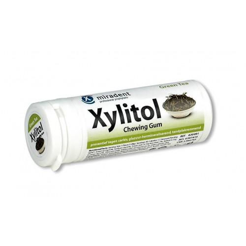 MIRADENT Xylitol Kaugummi Grüner Tee 30 Stk