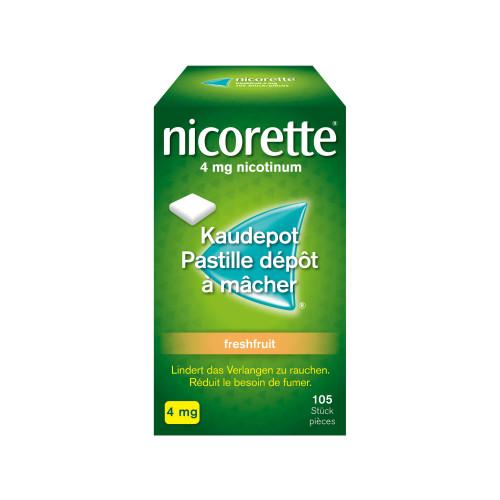 NICORETTE Freshfruit Kaudepots 4 mg 105 Stk