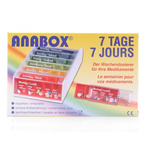 ANABOX Medidispenser 7Tage Pillenbox bunt