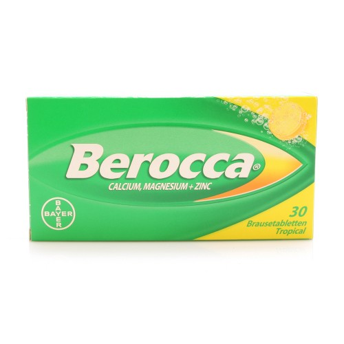BEROCCA Calc Magn Zinc Brausetabl Tropical 30 Stk