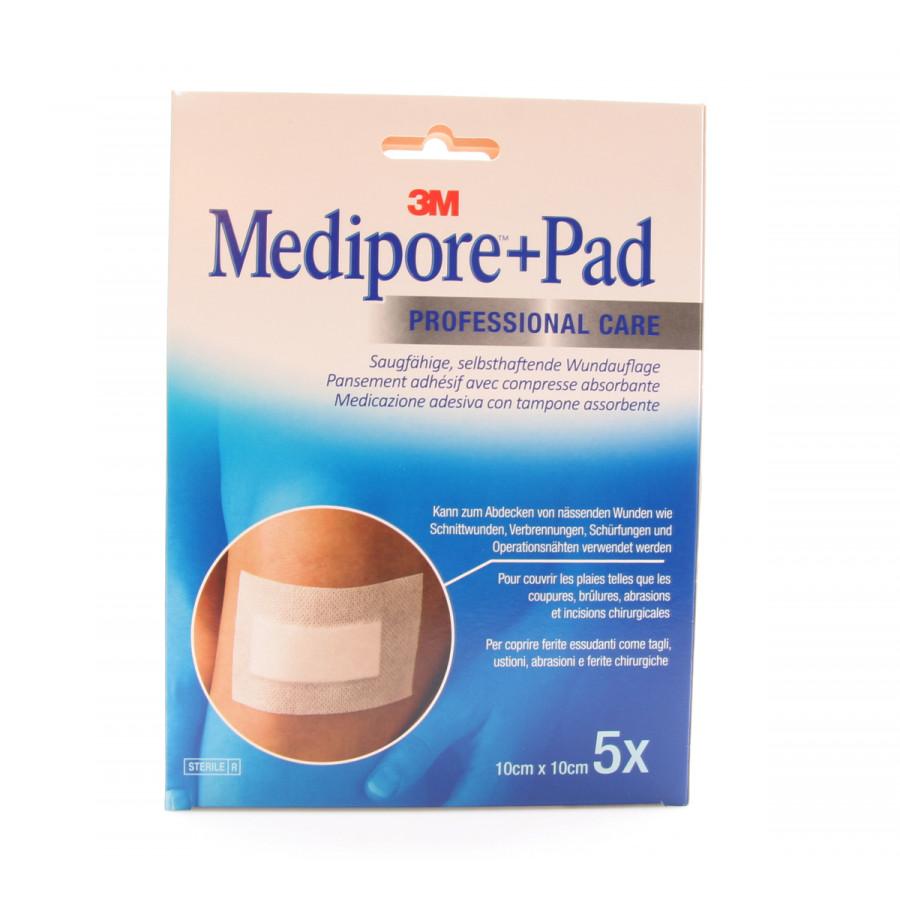 Hier sehen Sie den Artikel 3M MEDIPORE+PAD 10x10cm Wundkissen 5x5.5cm 5 Stk aus der Kategorie Schnellverbände Vlies. Dieser Artikel ist erhältlich bei apothekedrogerie.ch