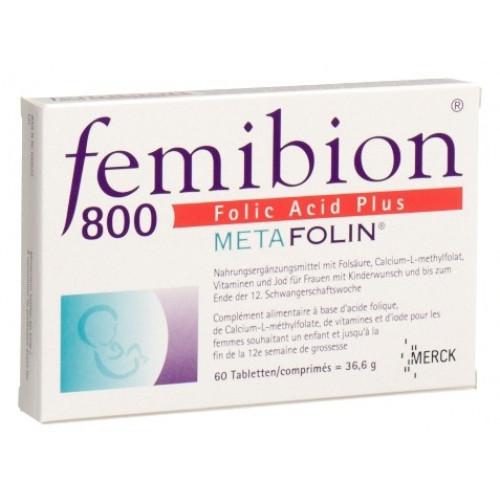 FEMIBION 800 Folic Acid Plus Metafolin Tabl 60 Stk
