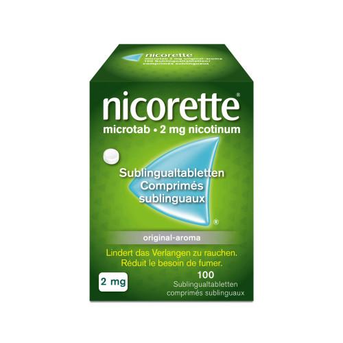NICORETTE Microtab Orig Subling Tabl 2 mg 100 Stk