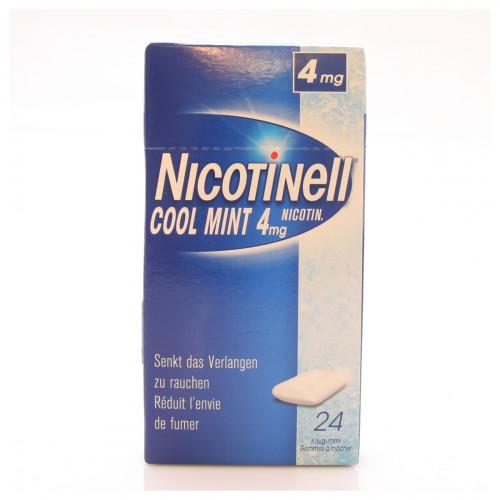 NICOTINELL Gum 4 mg cool mint 24 Stk