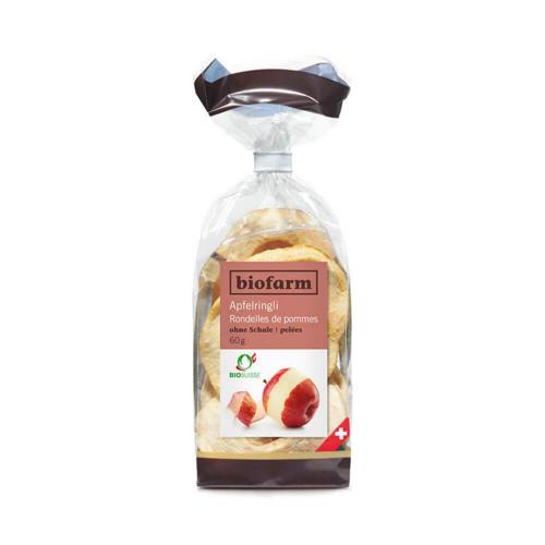 BIOFARM Apfelringe ohne Schale CH Knospe 60 g