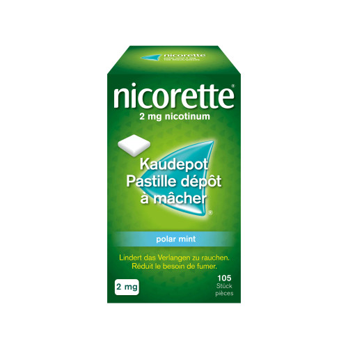 NICORETTE Polar Mint Kaudepots 2 mg 105 Stk