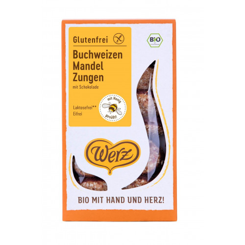 WERZ Zungen Biscuits Buchweizen Mandeln Bio 150 g