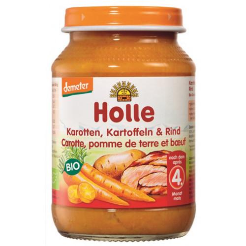 HOLLE Karotten Kartoffel & Rind Bio 190 g