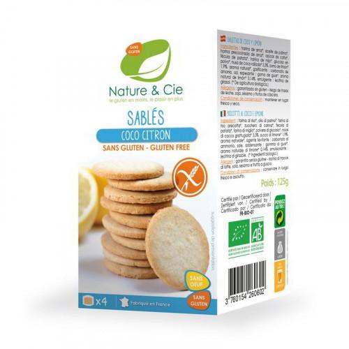 NATURE&CIE Butterkeks Kokos Zitrone glutenfrei 120 g