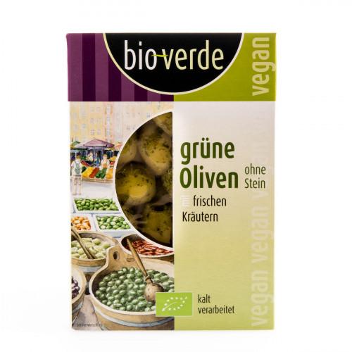 BIO VERDE Oliven grün ohne Stein 150 g