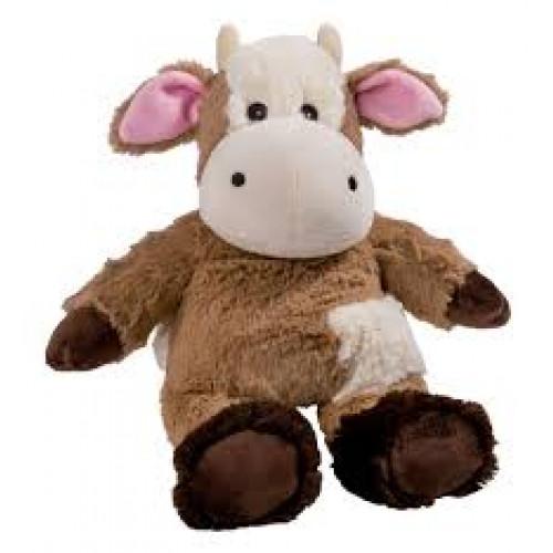 BEDDY BEAR Wärme Stofftier Kuh weiss-braun
