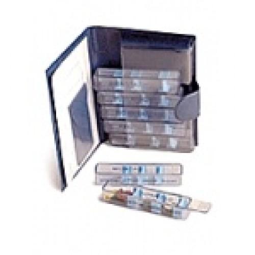 BIOMED Wochenpillenbox Small Leder schwarz D/F