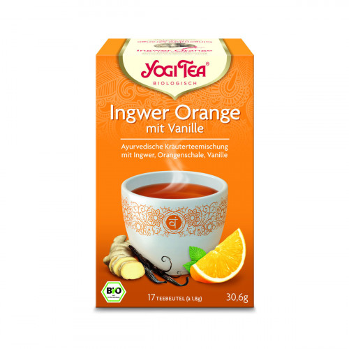 YOGI TEA Ingwer Orange mit Vanille 17 Btl 1.8 g