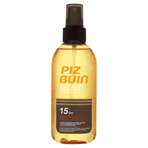 PIZ BUIN Wet Skin Transparent Spray SPF 15 150 ml