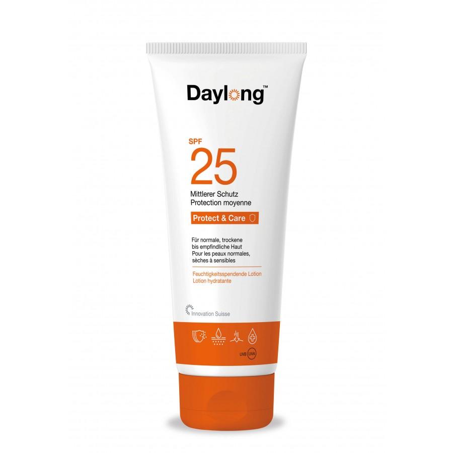 Hier sehen Sie den Artikel DAYLONG Protect&care Lotion SPF25 Tb 200 ml aus der Kategorie Sonnenschutz. Dieser Artikel ist erhältlich bei unseredrogerie.ch