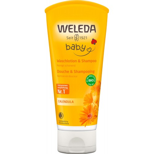 WELEDA BABY CALENDULA Waschlotion & Shampoo 200 ml