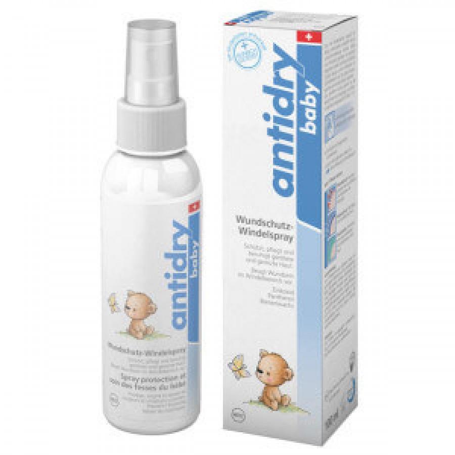 Hier sehen Sie den Artikel ANTIDRY baby Wundschutz-Windelspray 100 ml aus der Kategorie Baby-Creme/Emuls/Lot/Milch/Oel. Dieser Artikel ist erhältlich bei apothekedrogerie.ch