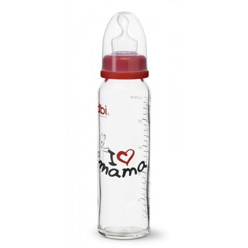 BIBI SH-Flasche Glas DenM 240ml Mama